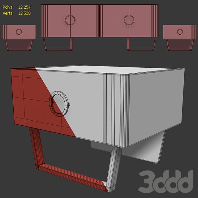 Комод  и тумба прикроватная Holly. Sideboard, nightstand  by Medusa Home