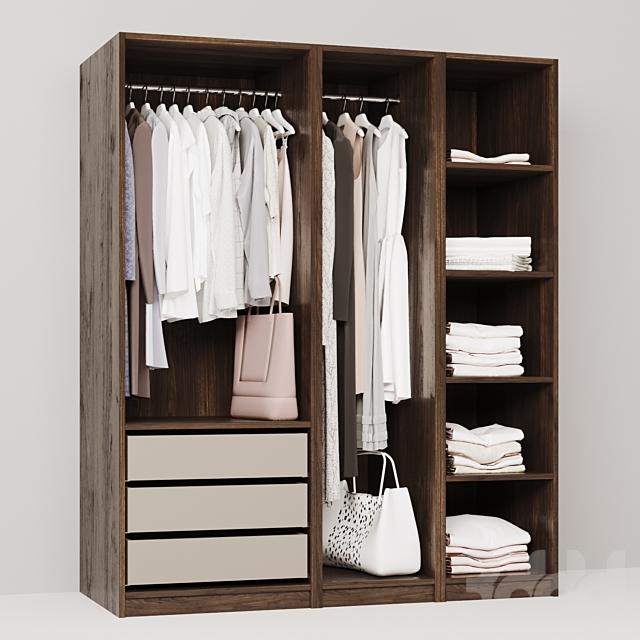 гардероб с одеждой