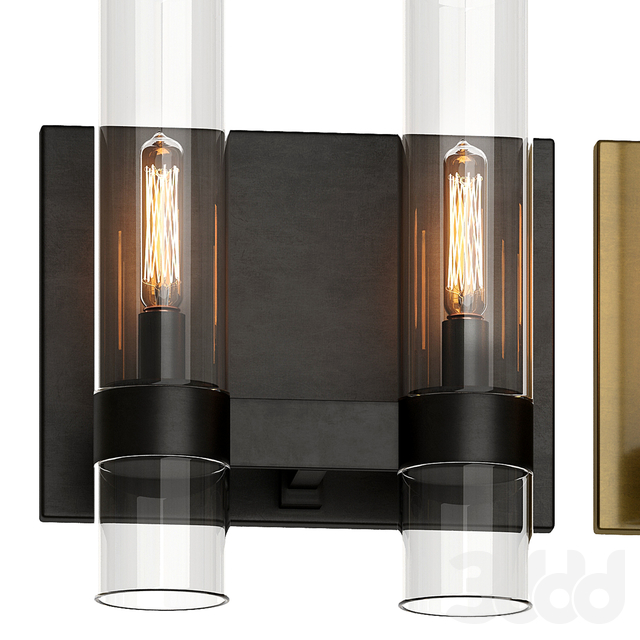 Restoration Hardware RAVELLE DOUBLE SCONCE 3 in 1