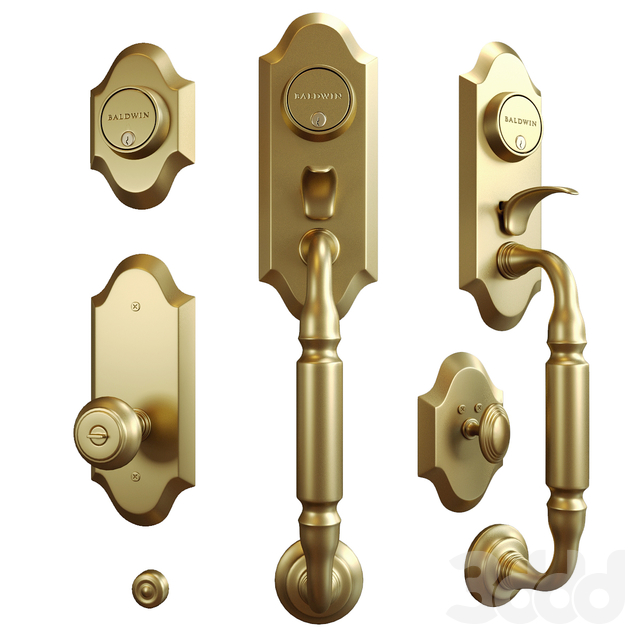Baldwin.  Ashton two-point lock handleset
