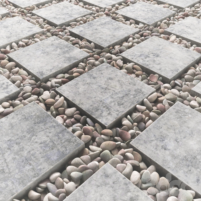 Tile square pebble  low 2 n3