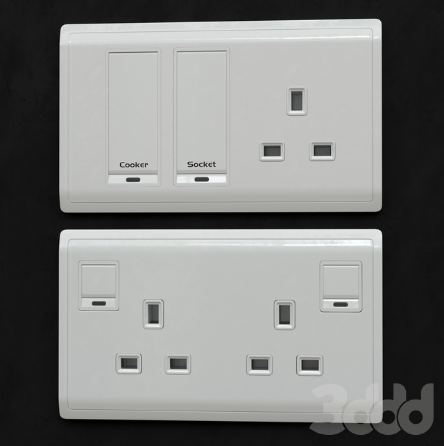 Schneider Pieno switches & sockets White