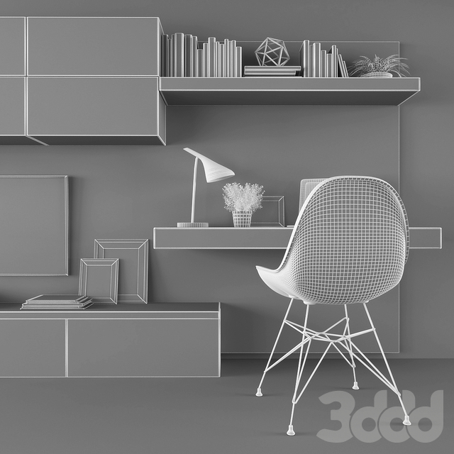Tv stand & workplace set 095