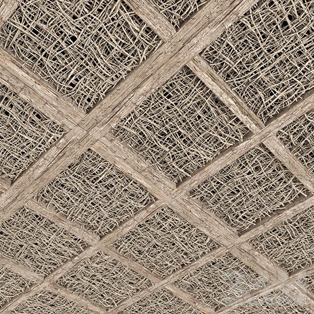 Ceiling white branch decor n1 / Потолок декорированный из белых веток
