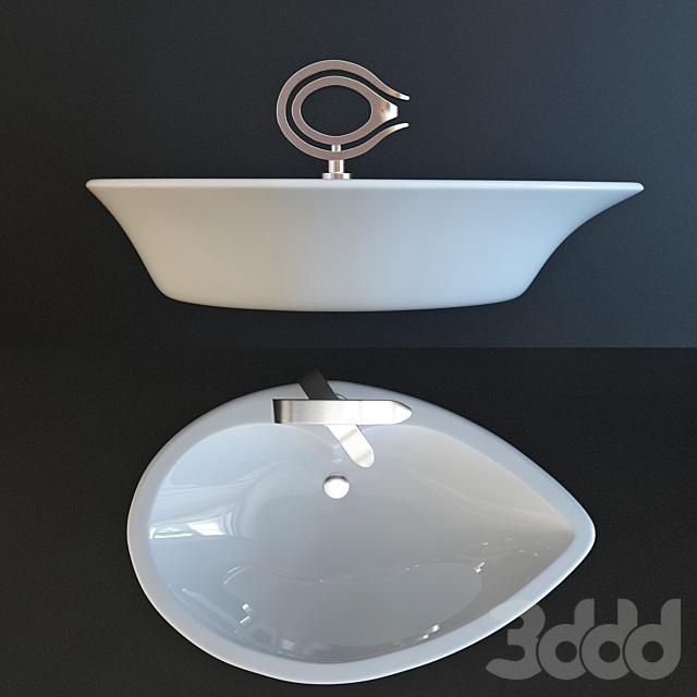 Table Top Basin+Single Lever Basin Mixer TIAARA series (Artize)