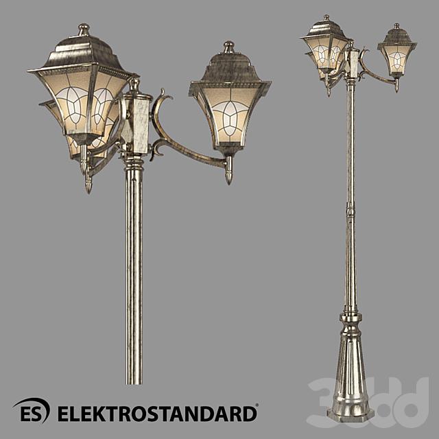 ОМ Уличный трехрожковый светильник на столбе Elektrostandard Altair F/3
