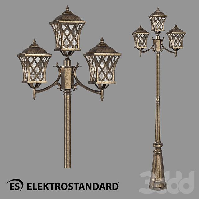 ОМ Уличный трехрожковый светильник на столбе Elektrostandard Cassiopeya F/3