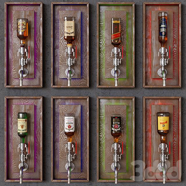wine pipe storage decor