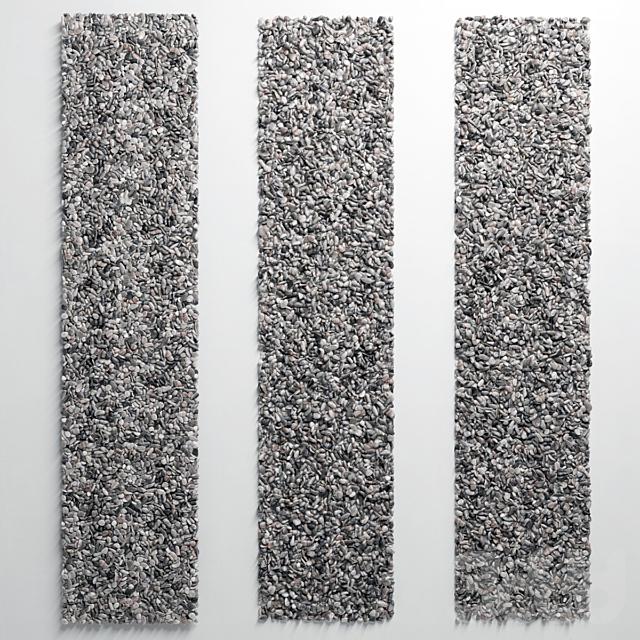 Pebble layer facture n9 low / Галька слоистая малая