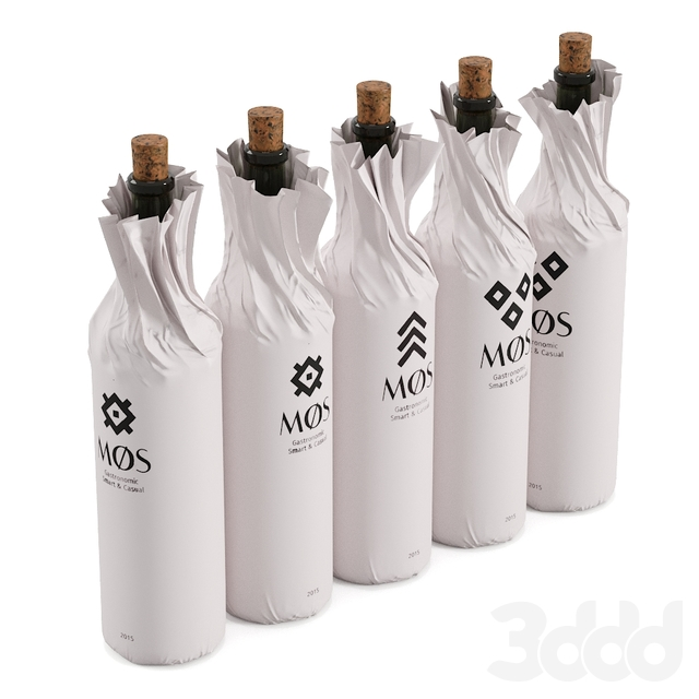 Wine bottles wrapped paper