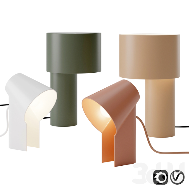 Study and Tangent Table Lamp by Woud