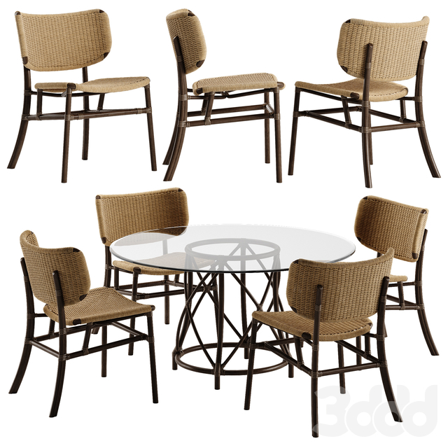 Mcguire Hanalei chair Gondola table set