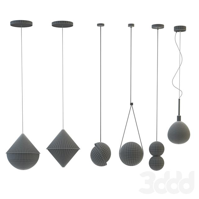 Seth chandelier Lee Broom; Guilherme Wentz; Lampatron; Maytoni two