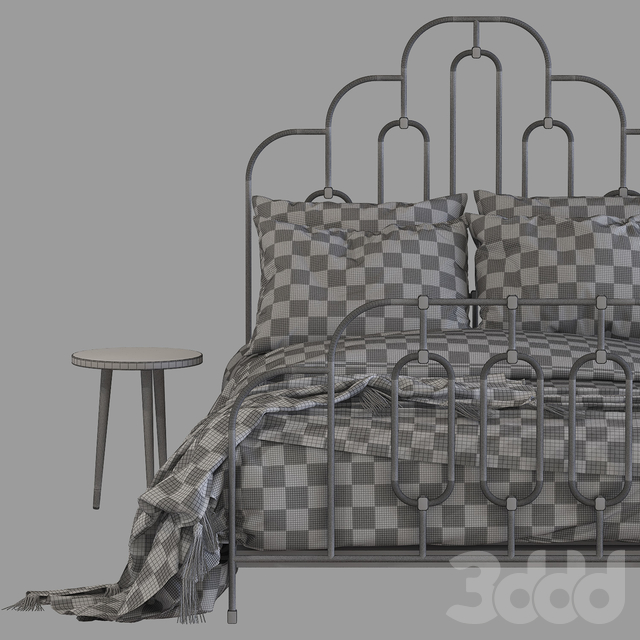 Кровать Anthropologie art deco bed