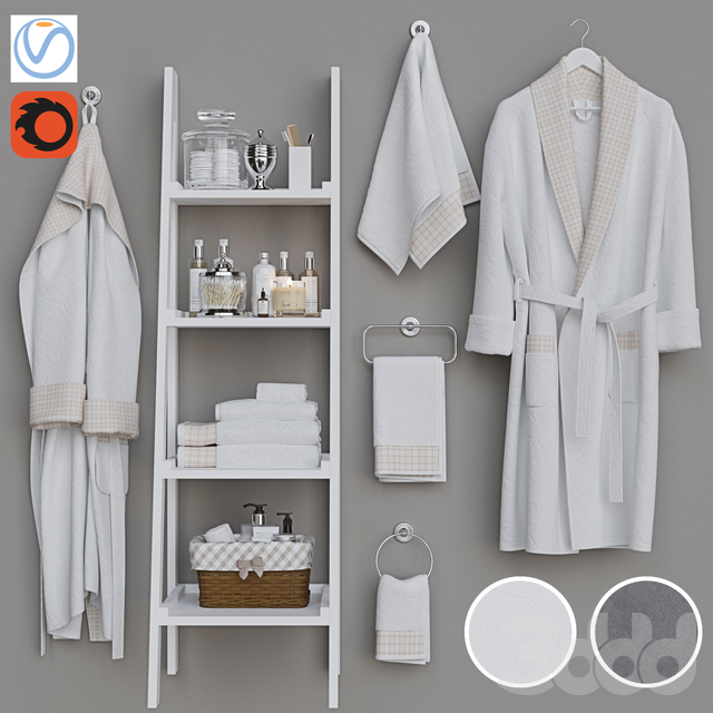 Декоративный набор для санузла 8