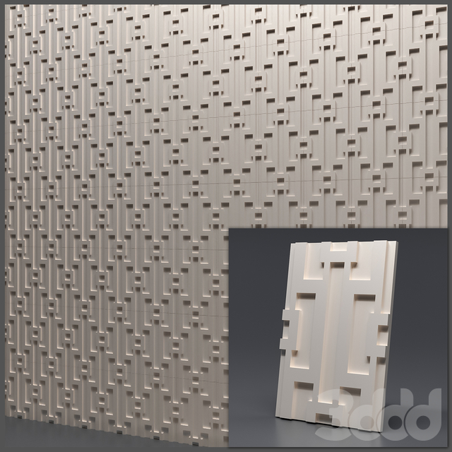 Гипсовая 3D панель