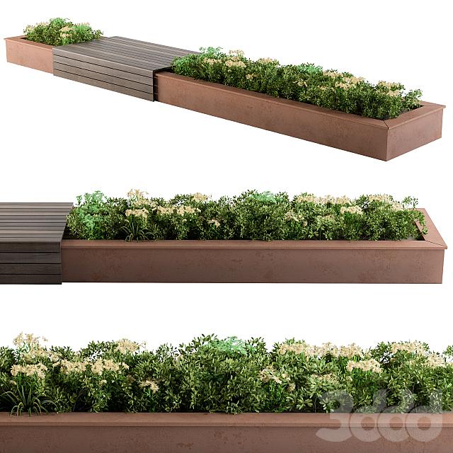Urban Garden with bench