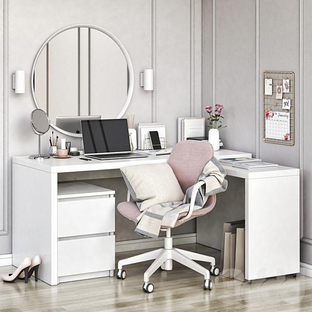 IKEA MALM corner workplace