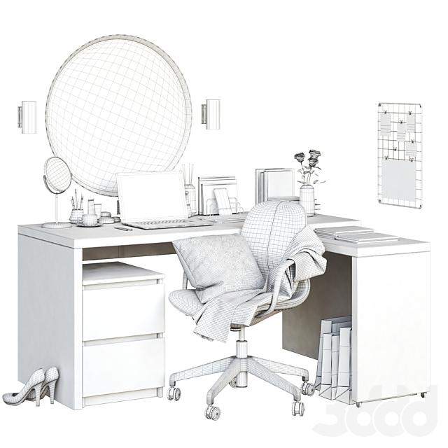 MALM corner workplace