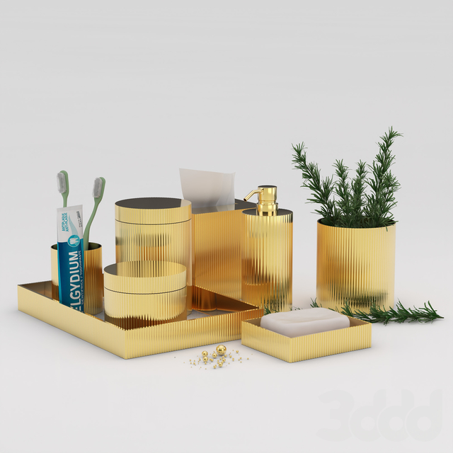 Bathroom Accessories gold 1