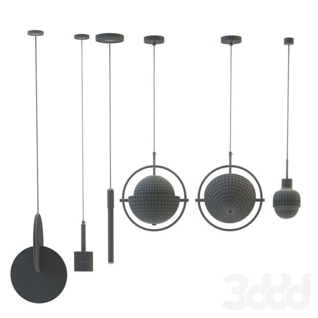 Collection of chandeliers Lampatron;Matthew Mccormick;Lee Broom 2