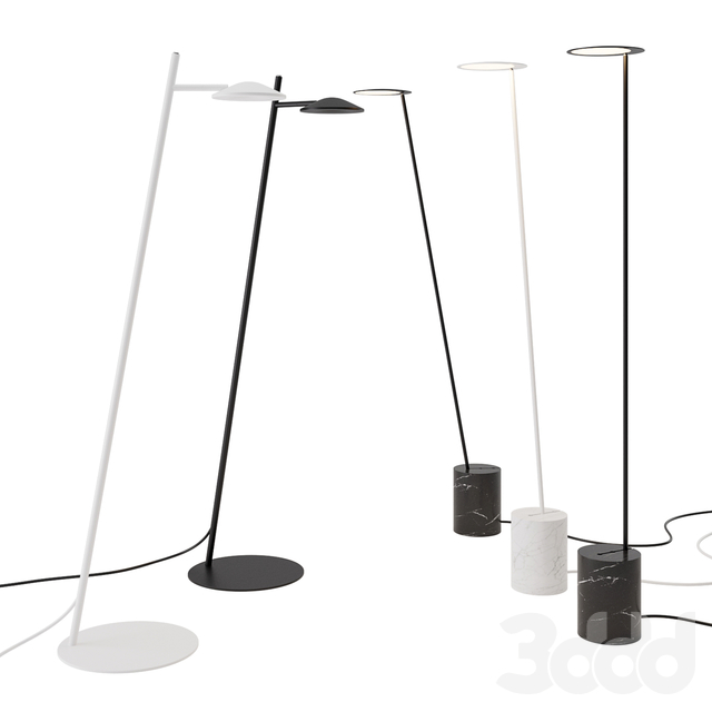 Circles and Rising Floor Lamp by Millelumen