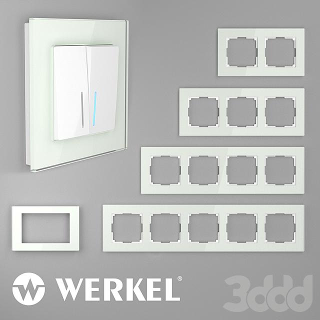 ОМ Стеклянные рамки для розеток и выключателей Werkel Favorit (натуральное стекло)