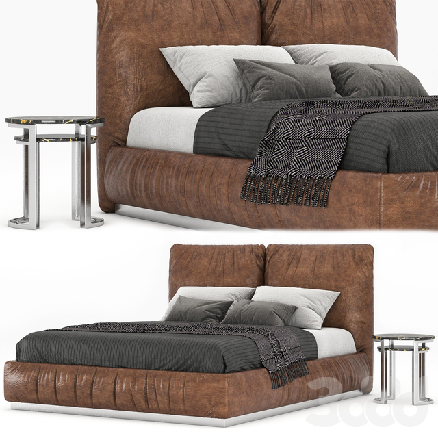 Leather bed 001