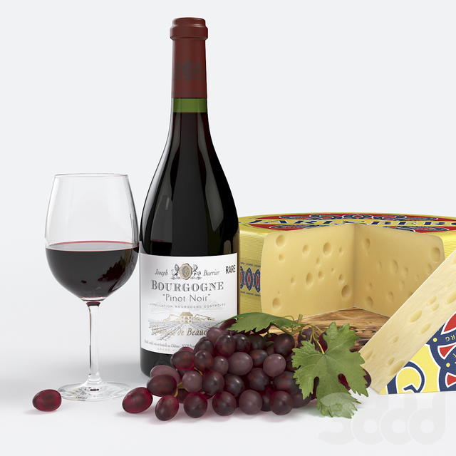 Red Wine and Cheese Set