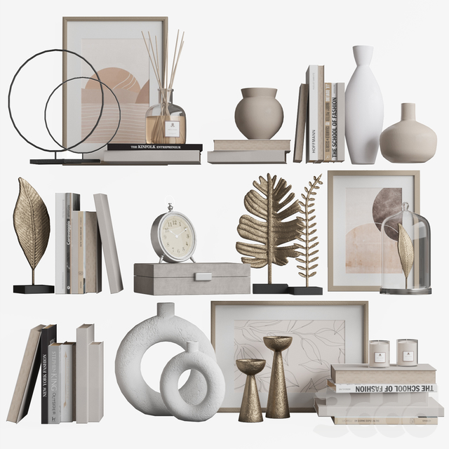 Decor shelf set