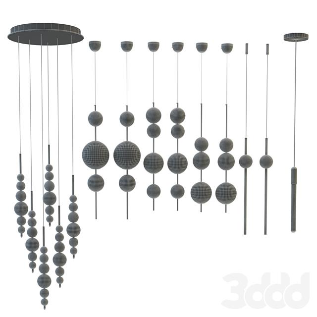 Set of chandeliers Lampatron;Lee Broom;Matthew Mccormick two