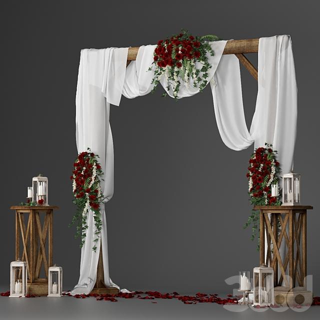 Свадебная арка с цветами 3901