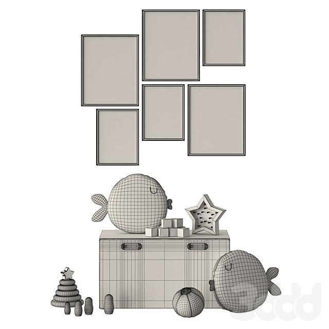 Черно-белый декор в детскую Ikea Stuva