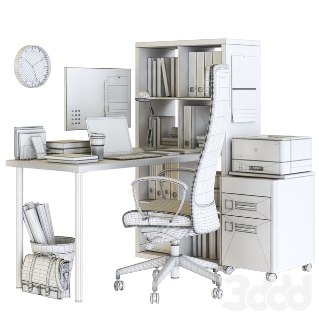 Kallax Office Workplace with Markus Chair