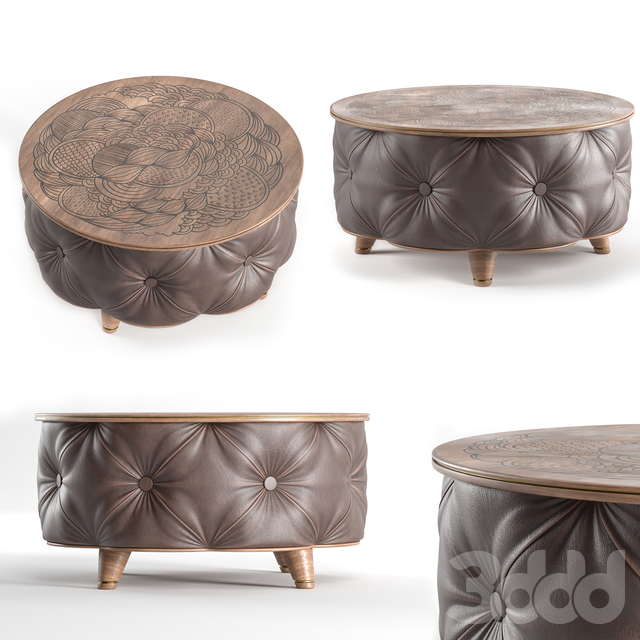 Modern Brown Round Coffee Table