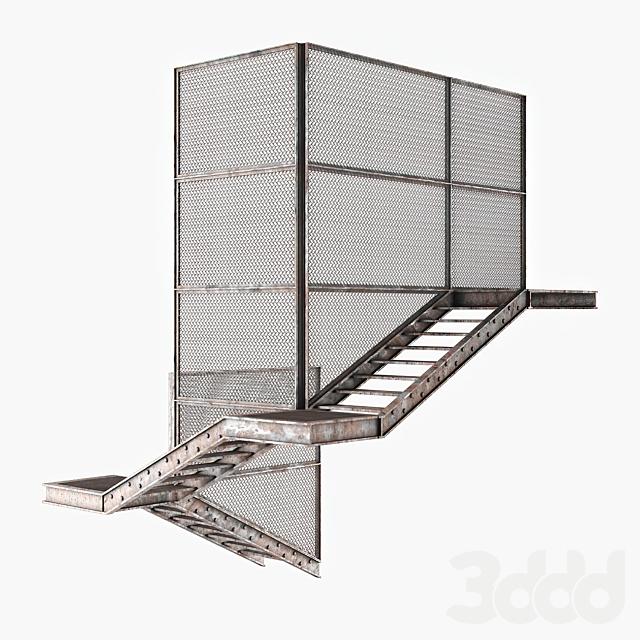 Старая металлическая лестница