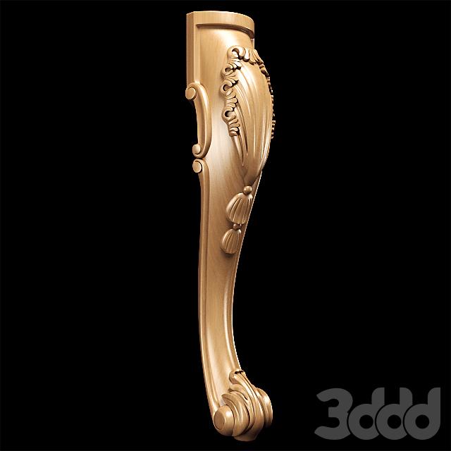 Резная ножка в классическом стиле