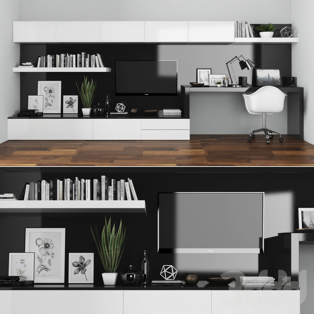Tv stand and workplace set 101