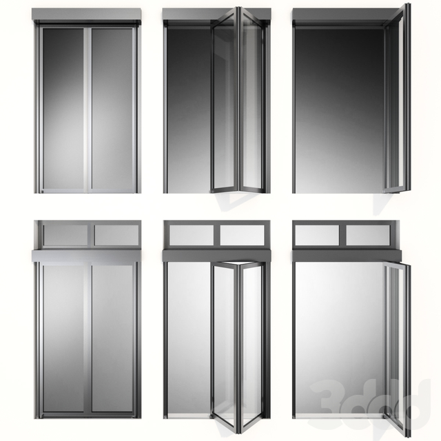 Складывающиеся металлические автоматические двери /  Folding Metal Automatic Doors