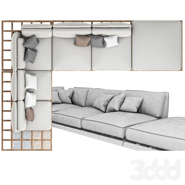 Mozaix Lounge sofa. Royal Botania.