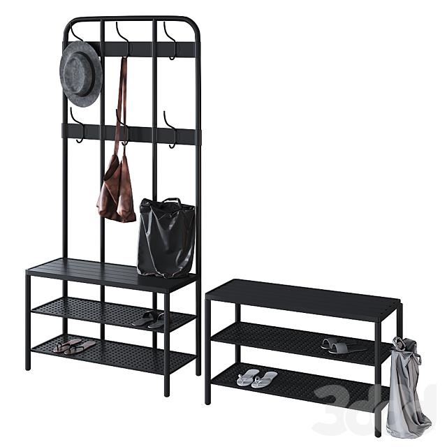 Ikea Пинниг Pinnig | Вешалка с секцией для обуви