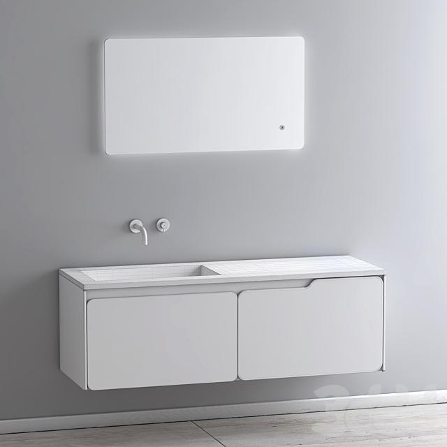 Modern Bathroom Cabinet   No. 090 SOLIDO