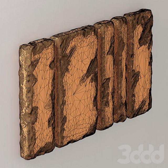 Slab stone wall n1 / Стена из каменного слэба N1