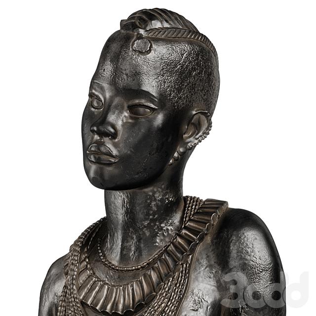 Anna Quinquaud Portrait of African women sculpture