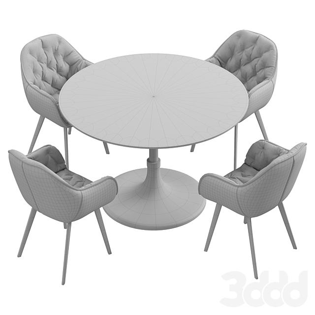 La forma & CB2 Hackney dining set
