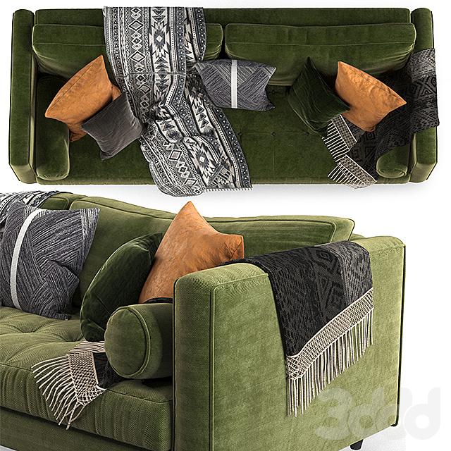 Article sven sofa Green-02