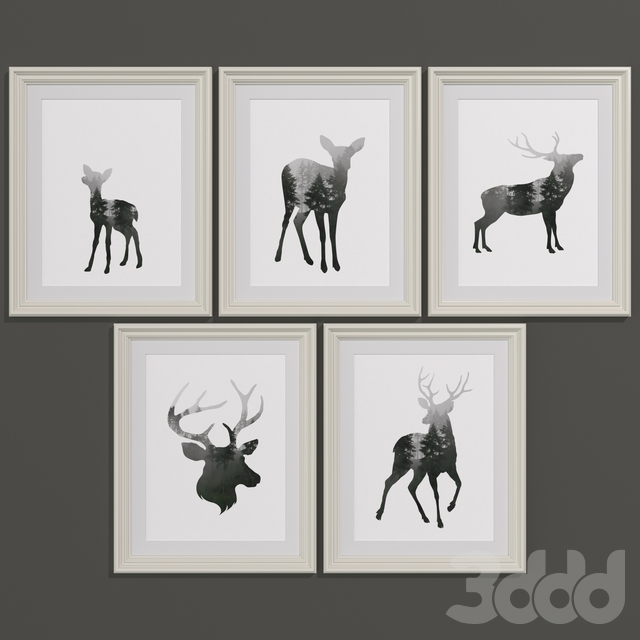Forest stag set