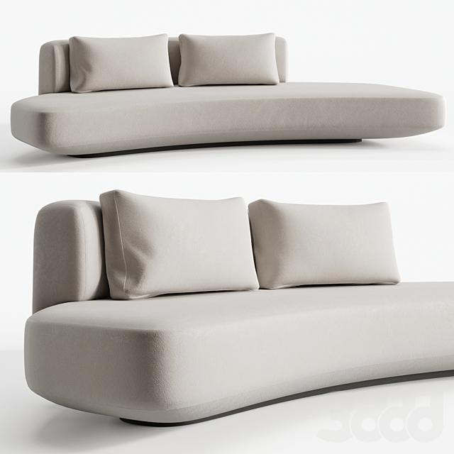 Audrey sofa 270 by Gallotti Radice