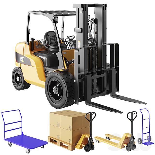 CAT Forklift, Manual Loader and Warehouse Carts Kit