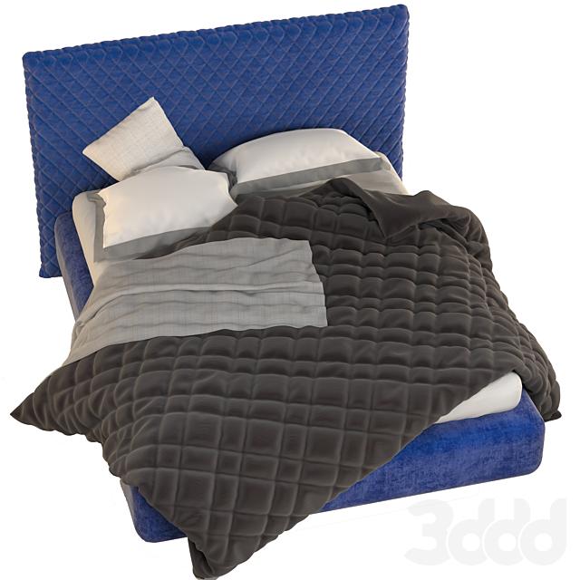 ALVA-QUILTED BED